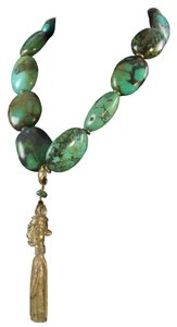 Genuine Turquoise and Bronze Necklace
