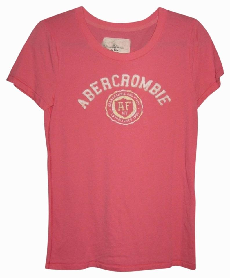 Abercrombie fitch pink t shirt tradesy for Abercrombie and fitch tee shirts