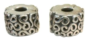 PANDORA Authentic Pandora S Clips Charm Sterling Silver 790388 (Charms) Set of 2