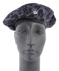 Louis Vuitton Gray Leopard Print Beret