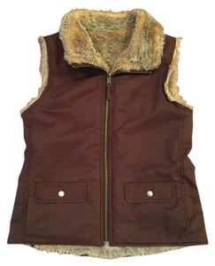 Gap Faux Fur Fur Reversible Faux Fur Vest