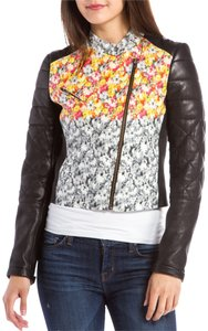 Yigal Azrouël Azrouel Floral Leather Black/floral Leather Jacket