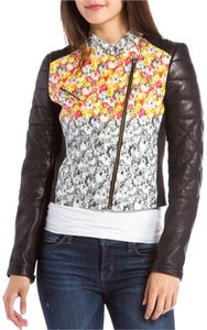 Yigal Azroul Floral Leather Biker Black/ Floral Leather Jacket