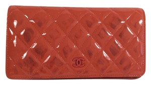 Chanel Chanel Salmon Patent Leather Wallet