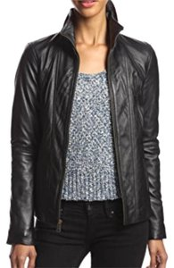 Andrew Marc Leather Moto Motorcycle Leather Leather Jacket