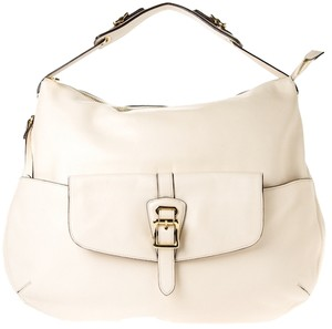 Ralph Lauren Lauren Leather Leather Handbag Satchel in White