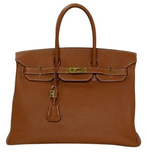 Hermès Birkin Birkin Birkin Togo Leather Satchel in Tan Gold