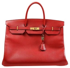 Hermès Birkin Birkin Birkin Satchel in Red