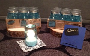 Light Blue & Green Jars Collector's Series Diy Perfect Votive/Candle