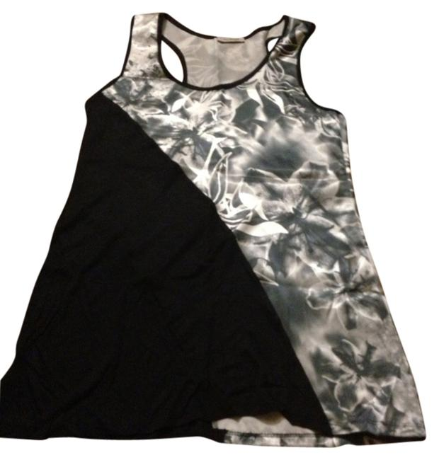 Preload https://item5.tradesy.com/images/one-clothing-black-and-white-floral-tank-topcami-size-4-s-825354-0-0.jpg?width=400&height=650