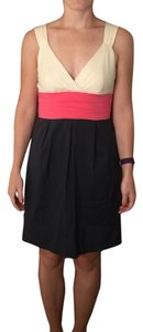 BCBGMAXAZRIA short dress Navy blue, pink, white on Tradesy