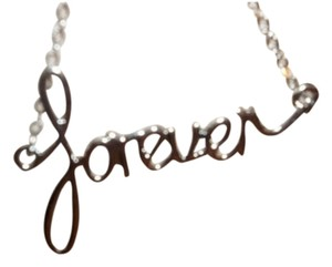 River Island FOREVER SILVER TONE CHANDELIER SCRIPT EARRINGS FROM RIVER ISLAND