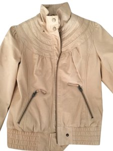 Anthropologie Beige Leather Jacket