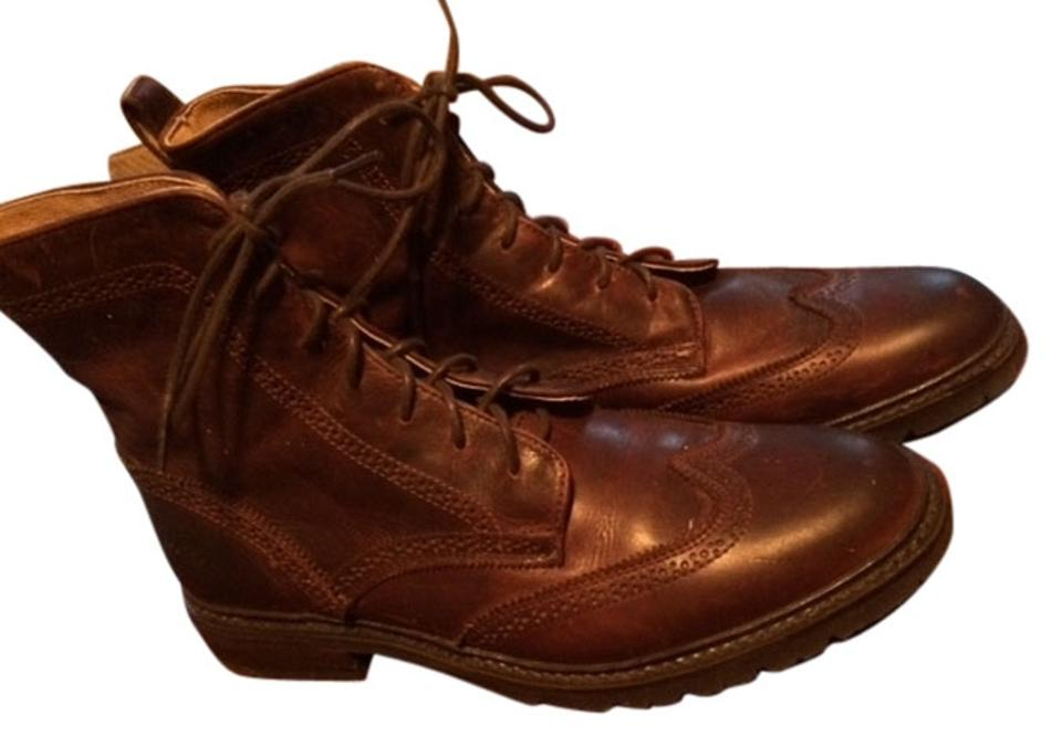 Frye Brown with Hint Of Burgundy Leather Leather Leather Boots/Booties d776b8