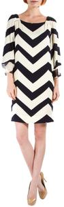 Diane von Furstenberg short dress Navy/Cream Dvf on Tradesy