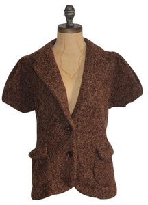 BCBGMAXAZRIA Wool Knit Bcbg BROWN Jacket
