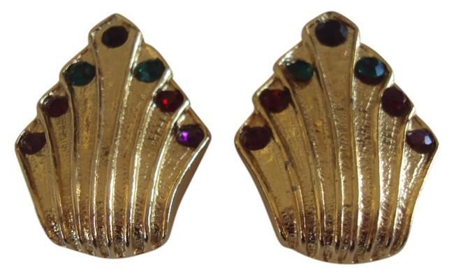 Item - Gold Tone Vintage Shoe Clips with Rhinestones Signed