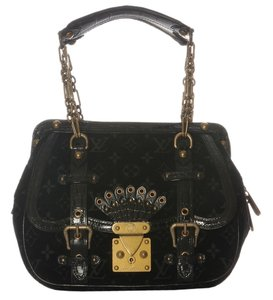 Louis Vuitton Velour Gracie Gm Luggage Lock Satchel