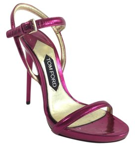 Tom Ford Metallic Raspberry Heel Raspberry Metallic Sandals