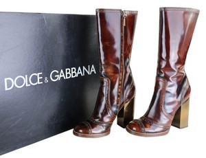 Dolce&Gabbana Polished Brown Boots