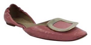 Roger Vivier Patent Leather D'orsay Pink Flats