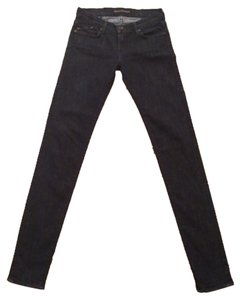 Rock and Republic Skinny Jeans - Dark Wash with Zippers on the back of the ankles- Size 26- 33