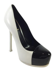 Saint Laurent Yves Black White/Black Pumps