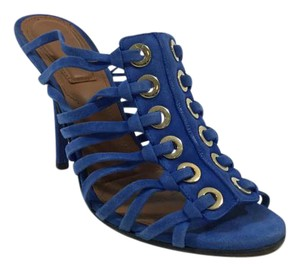 Givenchy Suede Strappy Heels Stiletto Blue Sandals