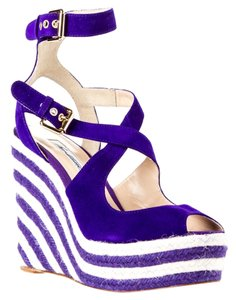 Brian Atwood Purple White Purple/White Wedges