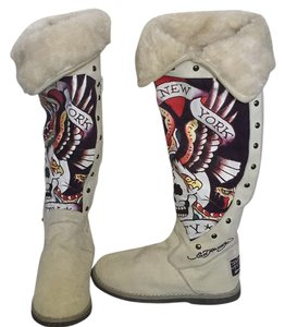 Ed Hardy White. Boots