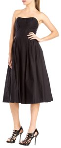 Michael Kors Cotton Midi Strapless Dress