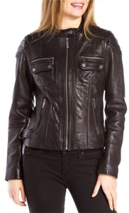 Michael Kors Moto Motorcycle Leather Leather Leather Jacket
