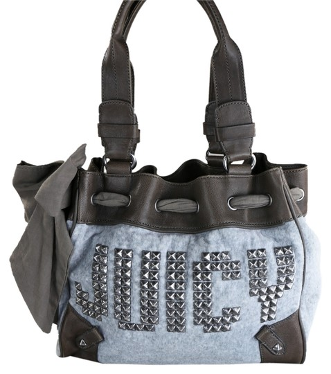 Preload https://img-static.tradesy.com/item/8255527/juicy-couture-studded-heatcozy-blueblack-cottonleather-tote-0-2-540-540.jpg