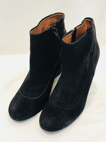 Lanvin Suede Leather Ankle Black Boots