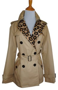 Coach Trench Jacket Camel Belted Trench Coat