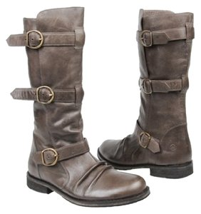 Bronx Buckle Leather Hardware Brown Boots