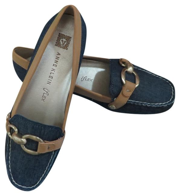 Item - Denim Myles Leather Loafers Platforms Size US 6 Regular (M, B)
