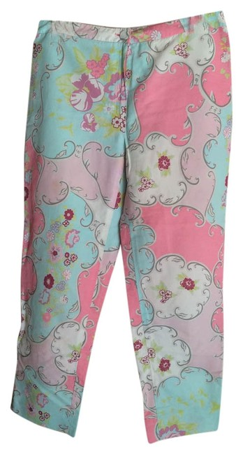 Preload https://img-static.tradesy.com/item/8255914/blumarine-bluepink-pastel-cottonpolyester-cropped-pants-in-floral-design-capris-size-6-s-28-0-3-650-650.jpg