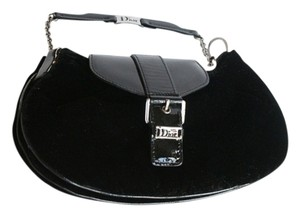 Dior Suede Wristlet in black