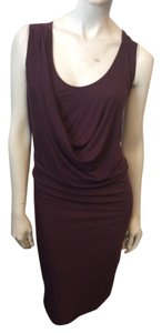 Three Dots short dress Maroon on Tradesy
