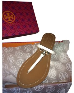 Tory Burch White/brown Sandals