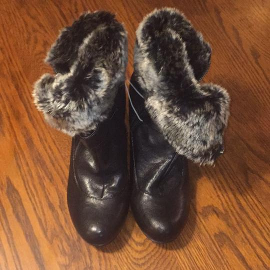 Merona Black boot, Black and gray faux fur Boots
