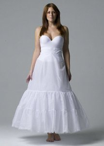 White Plus Size Wedding Dress Slip