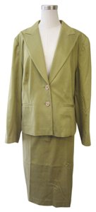 Bloomingdales Bloomingdale's Soft Green 2 Piece Skirt Suit Set Size 16W