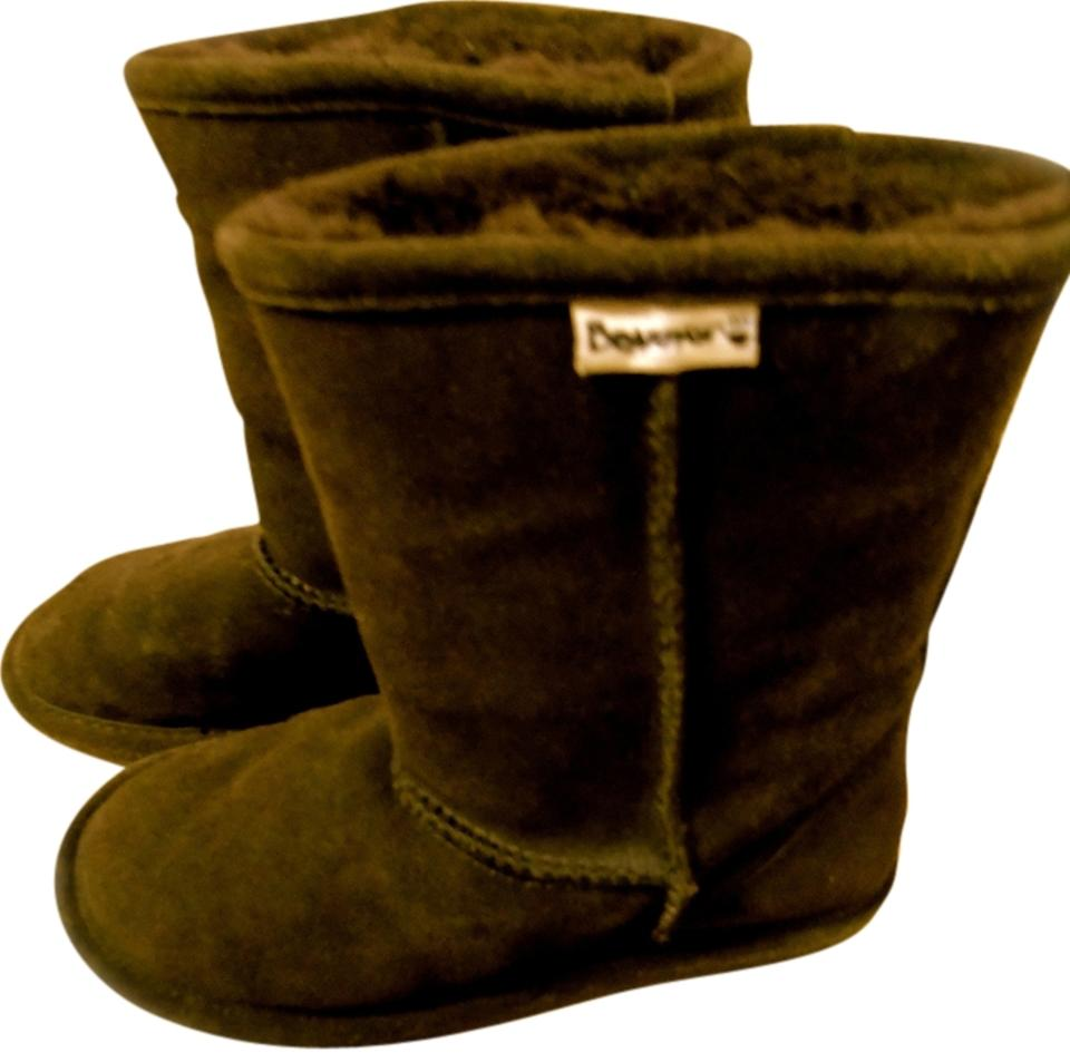 699ab16fa30 Bearpaw Dark Brown Suede Fur Lined Warm Winter Comfortable Faux Fur Suede  Women's Ugg Slip Boots/Booties Size US 7 Regular (M, B) 74% off retail