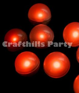 Red 48 Pcs Led Fairy Mini Glowing Waterproof Floating Ball Light For Party Floral Ceremony Decoration