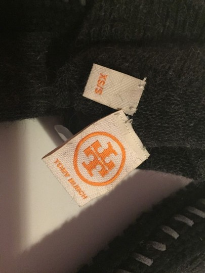 Tory Burch GREY WOOL RABBIT HAIR LEATHER AND KNIT OVER THE KNEE SOCKS SIZE XS/S NWT