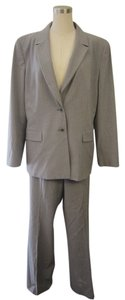 Tahari Tahari Pale Grey Pin Striped 2 Piece Jacket/Pant Suit Size 16