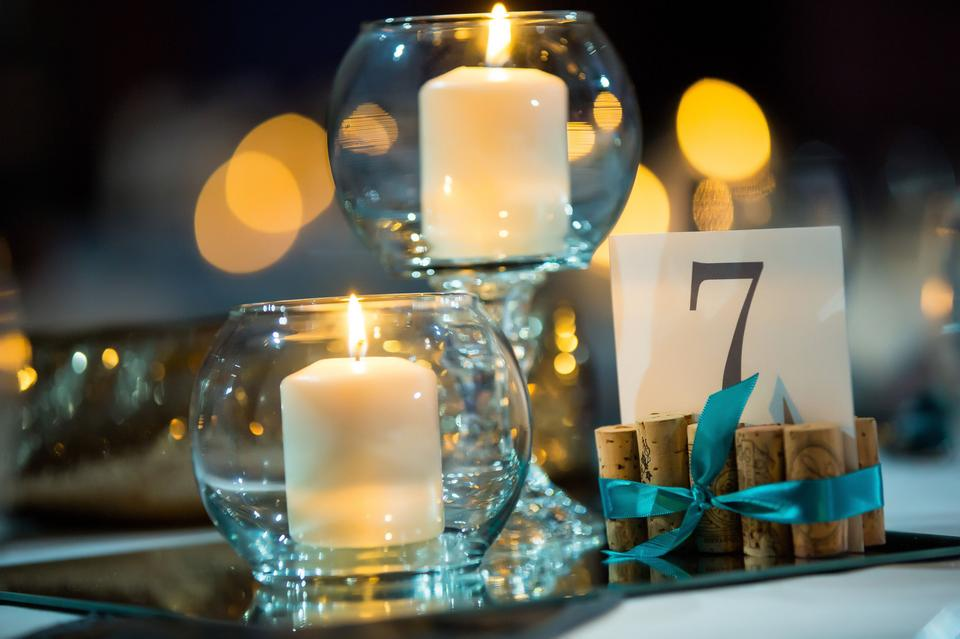 Tiered candle centerpieces w mirrors tradesy weddings