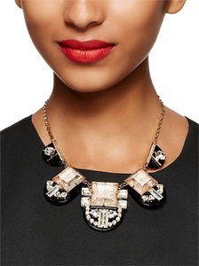 Kate Spade Fab Kate Spade Imperial Tile Collar Necklace Rose Gold Details